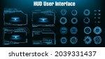 game futuristic user interface...   Shutterstock .eps vector #2039331437