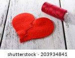 Broken Heart And Thread On...