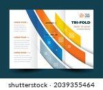 tri fold stripes lines design... | Shutterstock .eps vector #2039355464