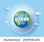concept of eco and world ozone... | Shutterstock .eps vector #2039381651