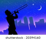 trumpet player performance in... | Shutterstock . vector #20394160