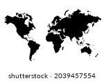 world map vector. sharp...   Shutterstock .eps vector #2039457554