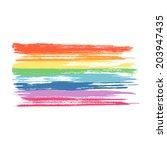 art rainbow colors brush stroke ... | Shutterstock .eps vector #203947435