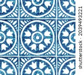 seamless moroccan pattern.... | Shutterstock . vector #2039493221
