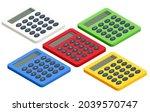 isometric digital calculator on ...