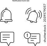 notification icons set isolated ...
