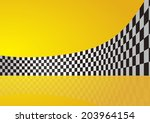 checkered stripes 3d | Shutterstock .eps vector #203964154