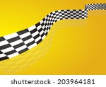 checkered stripes 3d | Shutterstock .eps vector #203964181