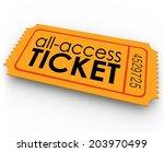 all access ticket words orange...   Shutterstock . vector #203970499