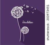 flowers design over purple... | Shutterstock .eps vector #203973451