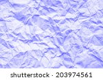 purple crumpled paper... | Shutterstock . vector #203974561