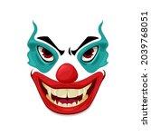 scary clown face vector icon ... | Shutterstock .eps vector #2039768051