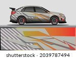 car livery wrap decal  rally... | Shutterstock .eps vector #2039787494