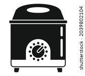 potato deep fryer icon simple...