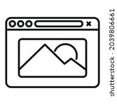 new browser icon outline vector....