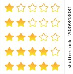 ranked 5 gold stars in a row.... | Shutterstock .eps vector #2039843081