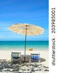 Sun Umbrellas And Beach Chairs...