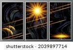luxurious dark fantastic... | Shutterstock .eps vector #2039897714