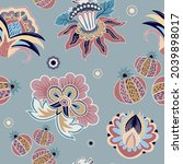 floral seamless wallpaper.... | Shutterstock .eps vector #2039898017