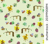 Pattern With Bee  Honeycomb ...