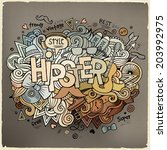 hipster hand lettering and... | Shutterstock .eps vector #203992975