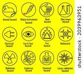 vector set of warning signs ...   Shutterstock .eps vector #2039963951