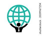 atlas staff logo globe modern... | Shutterstock .eps vector #2039967254