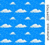Seamless Vector Cloud Pattern...