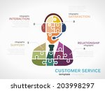 customer service concept... | Shutterstock .eps vector #203998297