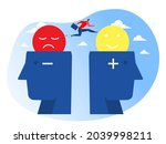 businessman is highly jumping...   Shutterstock .eps vector #2039998211