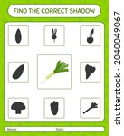 find the correct shadows game... | Shutterstock .eps vector #2040049067