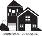 house vector that also can use... | Shutterstock .eps vector #2040056357