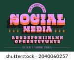 retro modern 2d fat typography... | Shutterstock .eps vector #2040060257