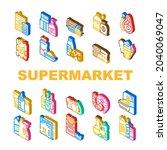 supermarket selling department...   Shutterstock .eps vector #2040069047