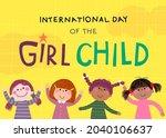 international day of the girl... | Shutterstock .eps vector #2040106637