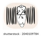 ancient idol. graphic image of... | Shutterstock .eps vector #2040109784
