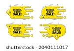 closing down sale. cartoon face ... | Shutterstock .eps vector #2040111017