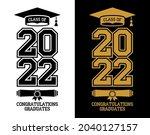 lettering class of 2022 for... | Shutterstock .eps vector #2040127157