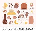 set of hand drawn organic...   Shutterstock .eps vector #2040128147