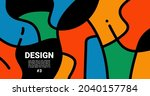 trend colorful abstract...   Shutterstock .eps vector #2040157784