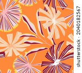creative tropical palm leaves... | Shutterstock .eps vector #2040182567