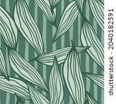 summer random line leaves... | Shutterstock .eps vector #2040182591