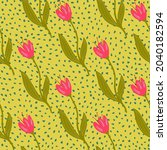 abstract tulip seamless pattern ... | Shutterstock .eps vector #2040182594