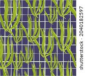 retro seaweeds seamless pattern ... | Shutterstock .eps vector #2040182597