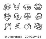 zodiac signs | Shutterstock .eps vector #204019495