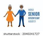 world senior citizen's day... | Shutterstock .eps vector #2040241727