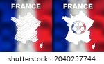 french abstract map set with... | Shutterstock .eps vector #2040257744