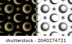 moon  half moon and star... | Shutterstock .eps vector #2040274721