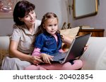 daughter and mom with a... | Shutterstock . vector #20402854