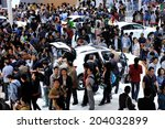 beijing  april 26 2014  crowed... | Shutterstock . vector #204032899